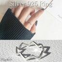 【メール便 送料無料】リング レディース シルバーリング ウェーブ ギザギザ ライン 指輪 シンプル デザイン 重ね着け…