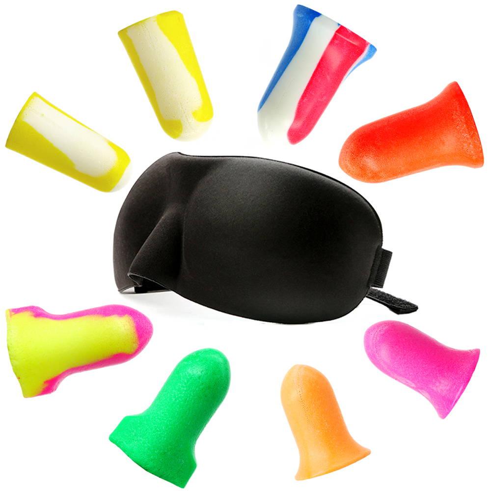 送料無料 HOWARD LEIGHT 立体 アイマスク 耳栓 お試し8種セット Bilsom303S アイピロー シルクタッチ 安眠 遮光 防音 高性能 高機能 いびき 遮音 睡眠用