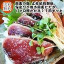 送料無料!龍馬の国 土佐伝統製法完全ワラ焼き龍馬たたき(トロ鰹たたき)1節セット