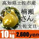 【家庭用】楠瀬さんの土佐文旦 10kg