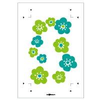 スイッチプレート,スイッチカバー,用,貼替えシール,花柄,緑系