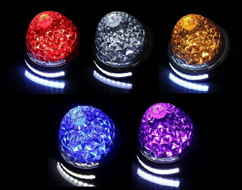 LED 16連バスマーカーランプ 12-24V兼用 ダウンライトSMD10連付 各色車幅灯、クリアレンズ、ツーウェイ、タイヤ灯