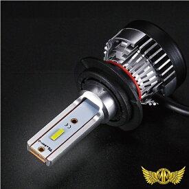 【送料無料!!】バイク LEDヘッドライト コンパクトファン付き H4 Hi/Lo切替 6000K 3000LM 12V専用 1PC
