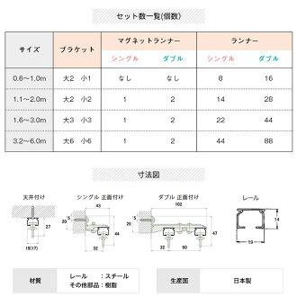 カーテンレールダブル伸縮機能カーテンレール角型日本製カーテンレール110-200cm1.1〜2mホワイトブラックカーテンレール即納あす楽正面付け天井付けカーテンレール伸縮新築