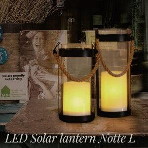 照明 ライト インテリア おしゃれ diclasse ディクラッセ LED 電球 LED Solar lantern Notte L LED ソーラーランタン ノッテL 鉄 ガラス 防滴 モダン ブルックリン 西海岸 北欧 ガーデニング 階段 屋外 JQ