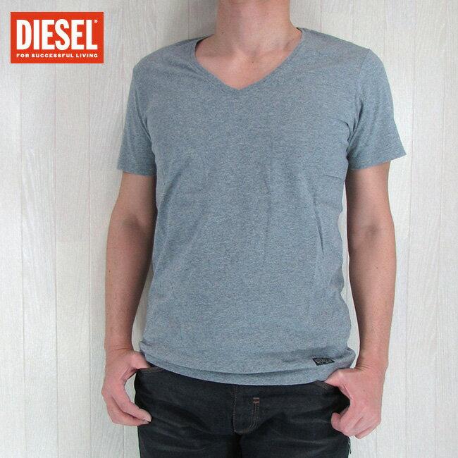 DIESEL ディーゼル メンズ トップス半袖 Tシャツ カットソー Vネック V首 HANSARO/グレー サイズ:S/L