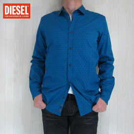 DIESEL+EDUN ディーゼル+イードゥンメンズ コットン シャツ 長袖 ED-SHOMBAY/ブルー サイズ:S/M/L