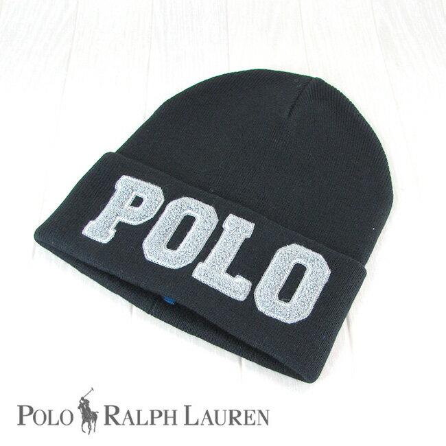 Ralph Lauren ラルフローレン ニットキャップ ニット帽 男女兼用 レディース メンズ 帽子 キャップ 6F0593/ブラック