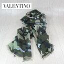 VALENTINO ヴァレンティノ スカーフ シルク混 ストール アクセサリー マフラー KU0ED002SCA/カモフラ