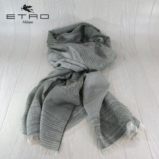 ETRO エトロ ストール スカーフ マフラー メンズ レディース 小物 1H400 9343 500/カーキ