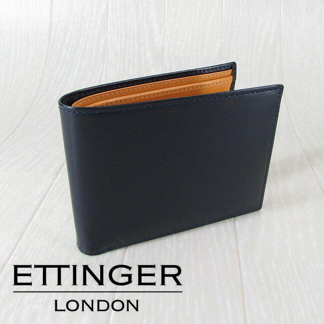 エッティンガー ETTINGER 財布 メンズ 二つ折り財布 小銭入れ付 ブライドルレザー BRIDE HIDE/BH141JR/Navy