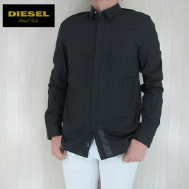 DIESEL BLACK GOLD ディーゼル ブラックゴールド シャツ メンズ トップス 長袖 アメカジ カジュアル SKEKKYS/ブラック サイズ:46