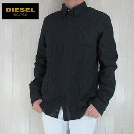 DIESEL BLACK GOLD ディーゼル ブラックゴールド シャツ メンズ トップス 長袖 アメカジ カジュアル SKEKKYS/ブラック サイズ:52