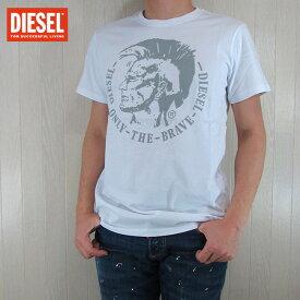 DIESEL ディーゼル メンズ トップス半袖 Tシャツ カットソー クルーネック 丸首 T-DIEGO-FO/ホワイト サイズ:S/M/L/XXL
