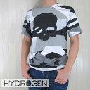 ハイドロゲン HYDROGEN メンズ Tシャツ 半袖 クルーネック 丸首 カットソー 200628/グレーカモ サイズ:S〜XXL