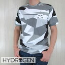 ハイドロゲン HYDROGEN メンズ Tシャツ 半袖 クルーネック 丸首 カットソー 200632/グレーカモ サイズ:S〜XXL