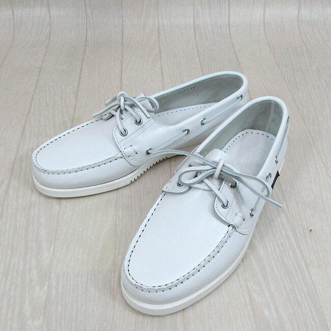 Paraboot パラブーツ メンズ シューズ デッキシューズ サマースリッポン 靴 BARTH 780384/ホワイト サイズ:6.5〜9