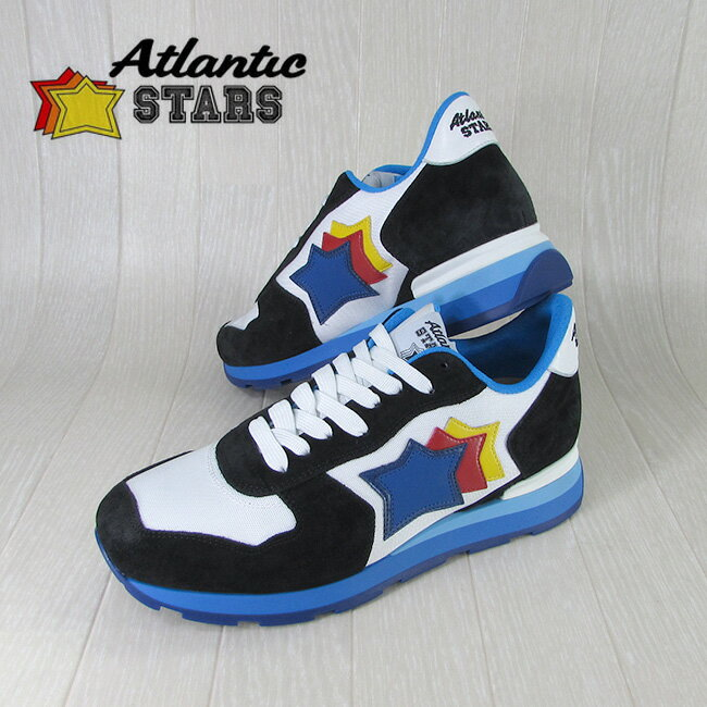 AtlanticSTARS アトランティックスターズ メンズ スニーカー イタリア シューズ 靴 ANTARES NBC 58B/ブルー/ホワイト/ブラック サイズ:41/42/43/44
