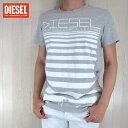 DIESEL ディーゼル メンズ トップス半袖 Tシャツ カットソー クルーネック T-DIEGO/グレー サイズ:S/M