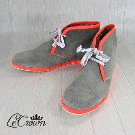 Le Crown レ クラウン デザートブーツ シューズ 靴 ブーツDESERTBOOT/カーキ サイズ:40/41/42/43