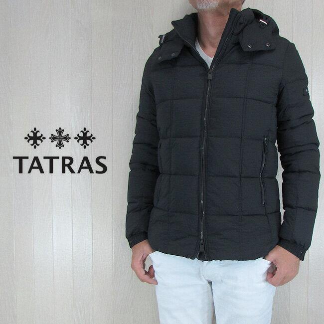 TATRAS タトラス ダウンジャケット メンズ アウター ストレッチ ダウンコート GESSO MTA18A4370/ブラック サイズ:1/2/3/4