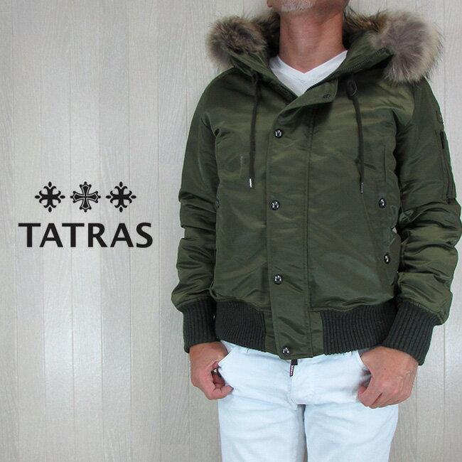 タトラス TATRAS ダウンジャケット メンズ アウター ボンバージャケット ダウン PERUGIA MTA18A4349/カーキ サイズ:1/2/3