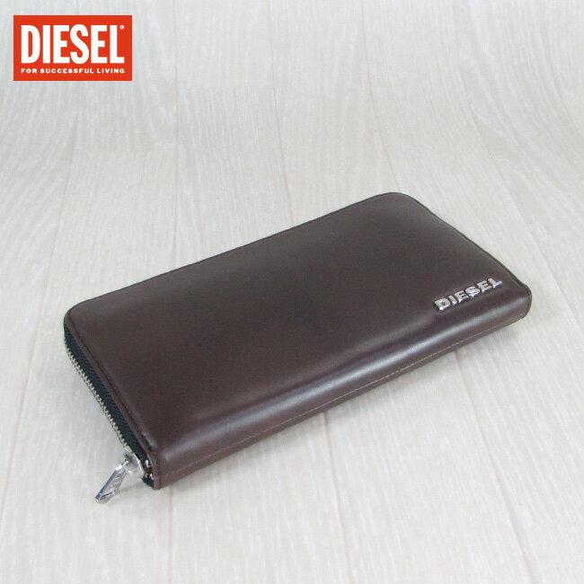 ディーゼル DIESEL ラウンドファスナー 長財布 小銭入れ付 財布 メンズ 本革 レザー H5547 X03145 PR378/ブラウン