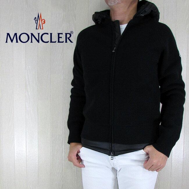 モンクレール MONCLER メンズ ダウンジャケット ニットダウン ダウンブルゾン アウター 9412500 9799T/999/ブラック サイズ:S/M/L/XL