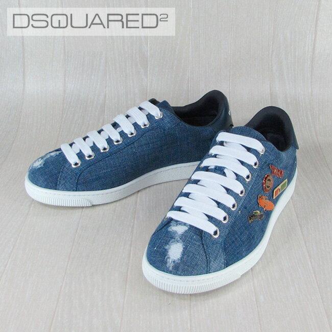 ディースクエアード DSQUARED2 メンズ スニーカー 靴 シューズ デニム SN4031179/3085/ブルー サイズ:39.5〜41.5
