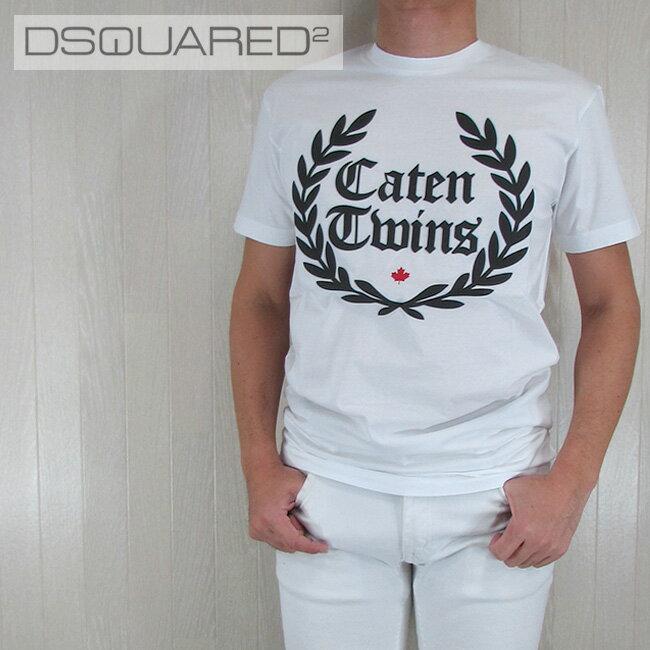 ディースクエアード DSQUARED2 メンズ Tシャツ 半袖 丸首 カットソー S71GD0536100/ホワイト サイズ:M/L/XL/XXL