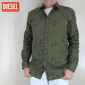 ディーゼル DIESEL メンズ トップス 長袖シャツ S-ONASS/51F/カーキ サイズ:S/M/L/XL