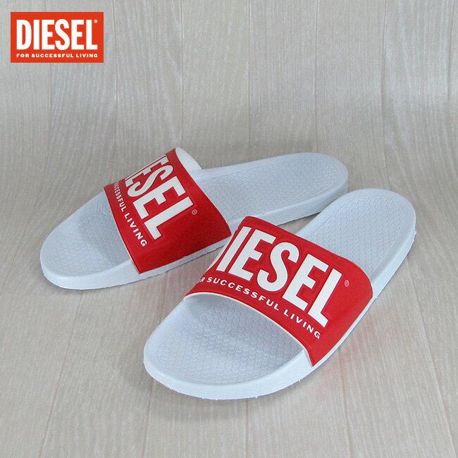ディーゼル DIESEL サンダル スリッパ スポーツサンダル ビーサン FREESTYLE/Y00434 PS720/H1251/ホワイト/レッド サイズ:41/44