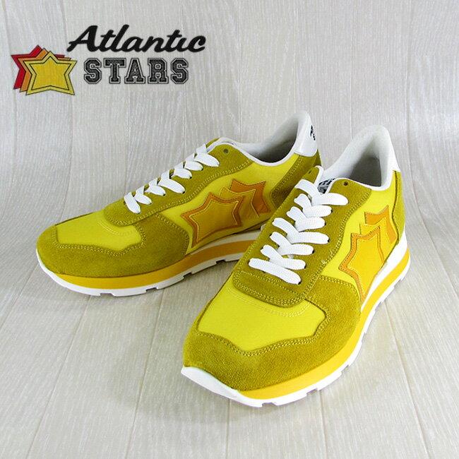 Atlantic STARS アトランティックスターズメンズ スニーカー イタリア シューズ 靴 ANTARES GS 36B/イエロー サイズ:40〜45