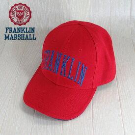 フランクリンマーシャル Franklin&Marshall メンズ キャップ 帽子 CAP アジャスター 小物 CPUA9000CON/-/レッド サイズ:58