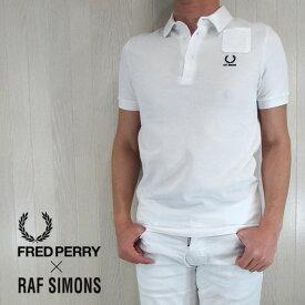 フレッドペリー ラフシモンズ FRED PERRY×RAF SIMONS メンズ ポロシャツ トップス SM1411/100/ホワイト サイズ:36/38