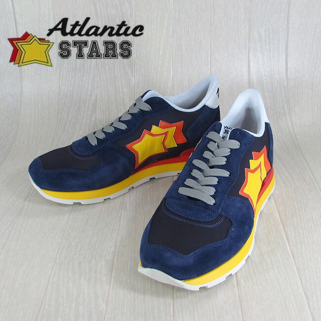 Atlantic STARS アトランティックスターズメンズ スニーカー イタリア シューズ 靴 ANTARES VB 27R/ネイビー サイズ:40〜45