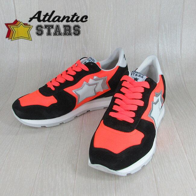 Atlantic STARS アトランティックスターズメンズ スニーカー イタリア シューズ 靴 ANTARES NAF 86N/ブラック/オレンジ サイズ:40〜45