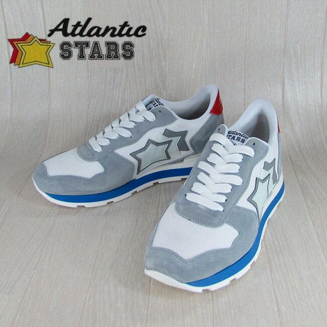 Atlantic STARS アトランティックスターズメンズ スニーカー イタリア シューズ 靴 ANTARES BAB 34B/グレー/ホワイト サイズ:40〜45