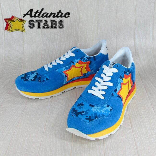 Atlantic STARS アトランティックスターズメンズ スニーカー イタリア シューズ 靴 ANTARES AD 27R/ブルー サイズ:40〜45