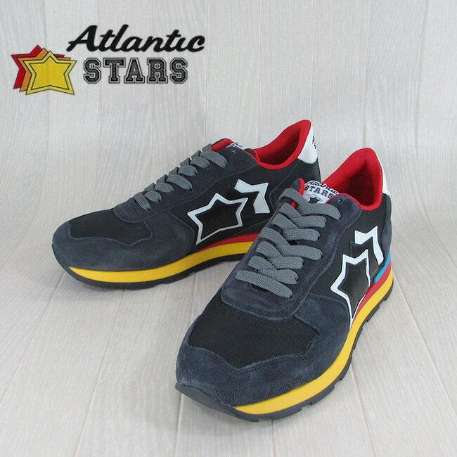 Atlantic STARS アトランティックスターズメンズ スニーカー イタリア シューズ 靴 ANTARES AB 89C/ネイビー サイズ:40〜45