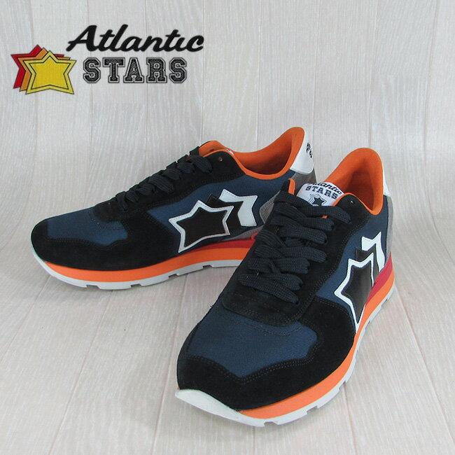 Atlantic STARS アトランティックスターズメンズ スニーカー シューズ 靴 ANTARES NB 85R/ネイビー サイズ:40〜45