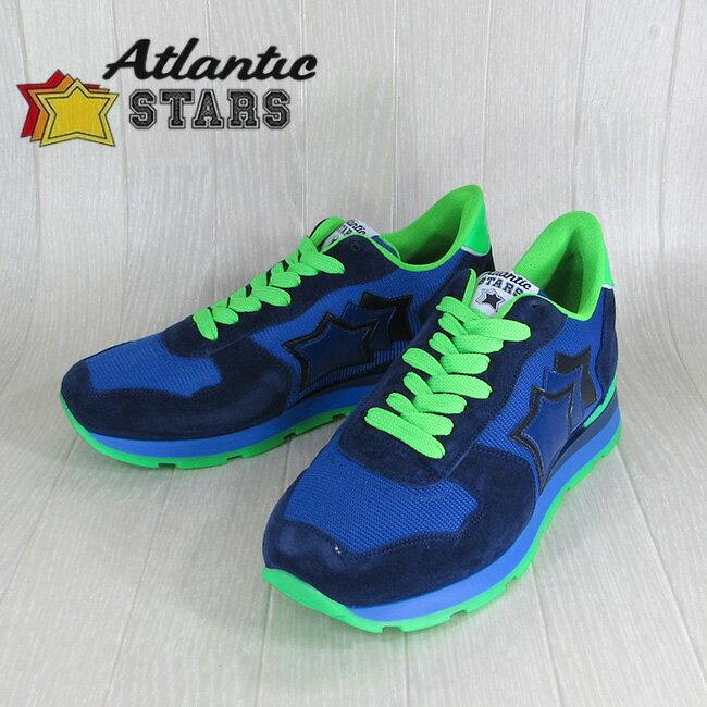 AtlanticSTARS アトランティックスターズ スニーカーANTARES AM 38VF / ブルー/グリーン サイズ:40〜45