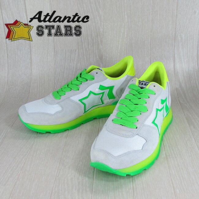 AtlanticSTARS アトランティックスターズ スニーカーANTARES BCG 37VF / ホワイト/グリーン サイズ:40〜45