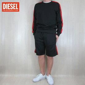 ディーゼル DIESEL メンズ ロンT 長袖 スウェット ショートパンツ セットアップ MO-DMAXX / MO-DMARINY/900/ブラック サイズ:S/M/L