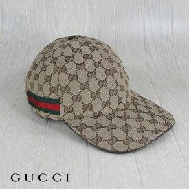 グッチ GUCCI メンズ キャップ 帽子 スポーツキャップ モノグラム 袋付き/200035 KQWBG 9791/ベージュ サイズ:M