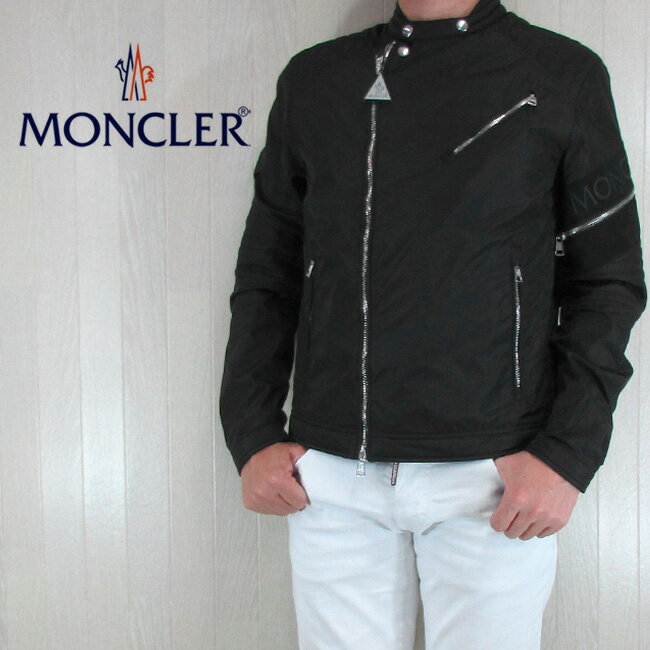 モンクレール MONCLER メンズ ジャケット ライダース ブルゾン アウター JAUR/4060000 54155/999/ブラック サイズ:1〜4