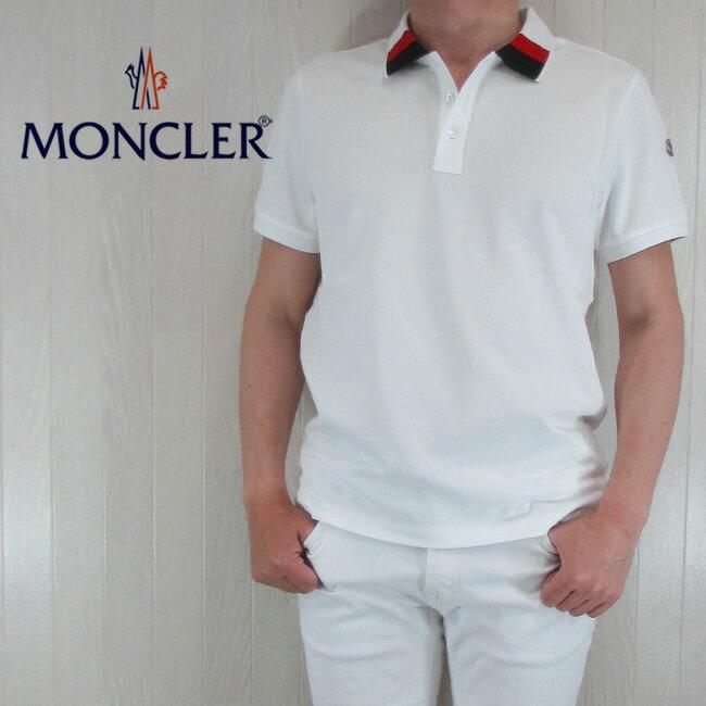 モンクレール MONCLER メンズ ポロシャツ 半袖 トップス 8305200 84556/004/ホワイト サイズ:S〜XL