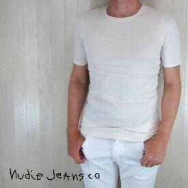 ヌーディージーンズ Nudie Jeans メンズ トップス 半袖 Tシャツ カットソー 131329 / W04 / オフホワイト 白 サイズ:XS