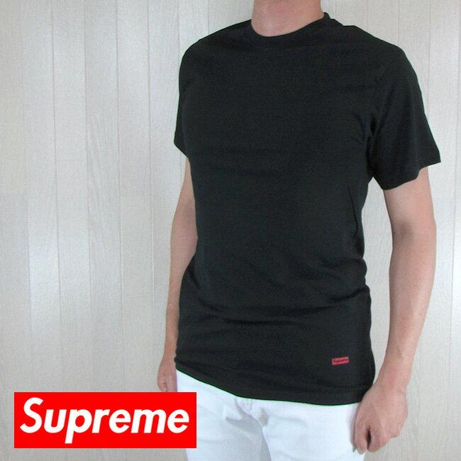 シュプリーム Supreme メンズ Tシャツ ボックスロゴTシャツ 男性 3枚組 HANES / SS18A23 TAGLESS TEES / ブラックサイズ:S