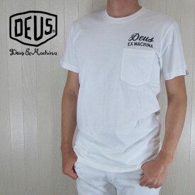 デウスエクスマキナ Deus Ex Machina Tシャツ メンズ 半袖 カットソー トップス クルーネック PMS41065A / ホワイト サイズ:XS〜XL